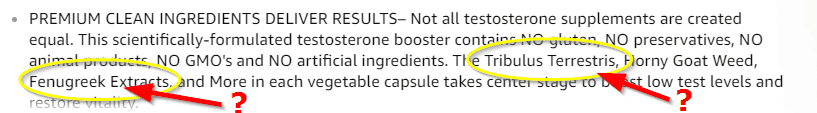 Ogen Labs Testosterone Booster Ingredients Question