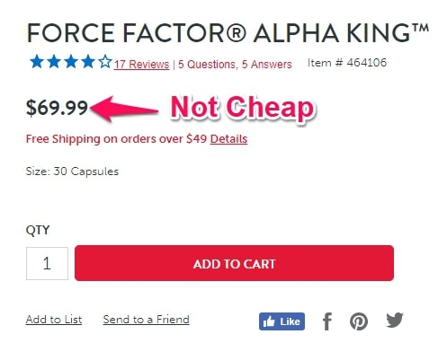 alpha king for sale on GNC