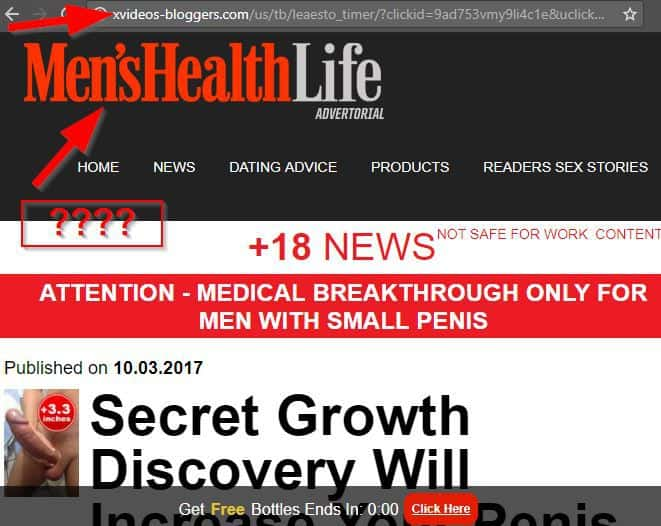 fake ad for mens health and life