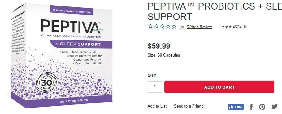 peptiva price on gnc