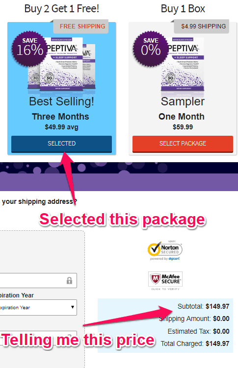 peptiva pricing issues