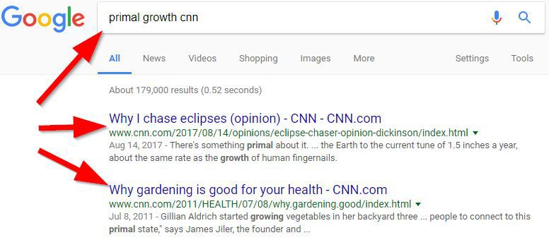 primal growth cnn