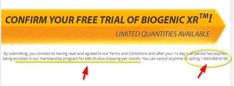 Biogenic XR UK Terms