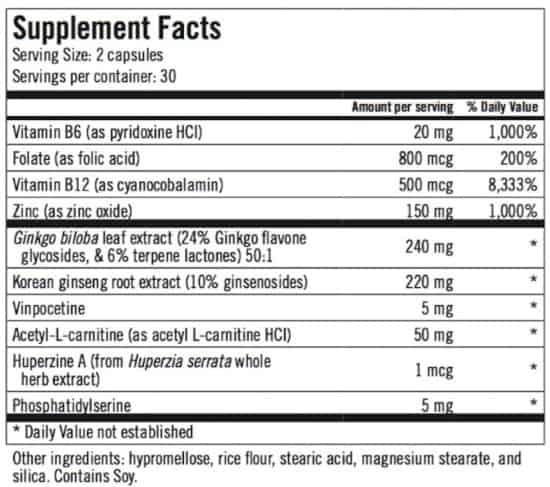 alpha levo iq ingredients label