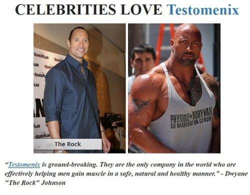 the rock on testomenix