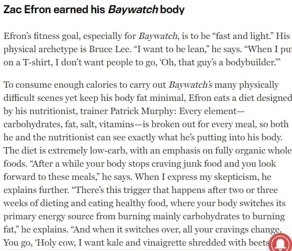 how zac efron got ripped interview with mens fitness