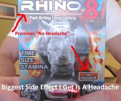rhino 8 headaches