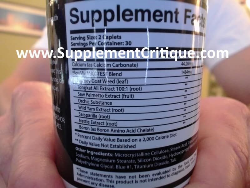 testomenix ingredients label