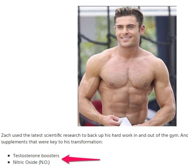 zac efron testosterone boosters and nitric oxide