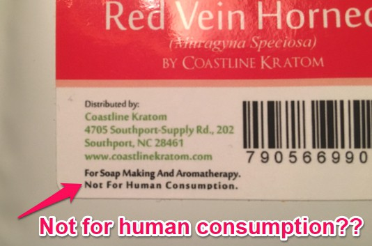 coastline kratom not for human consumption