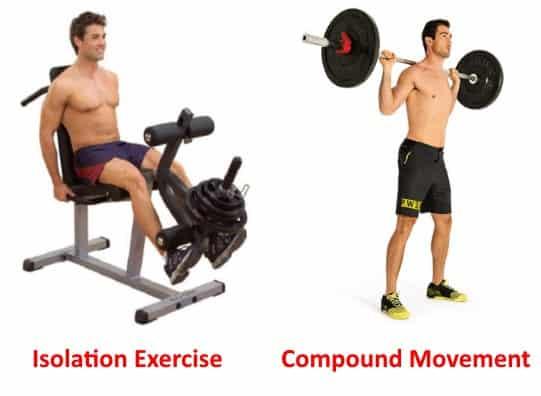 isolation exercise vs compound movement