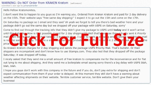 kraken kratom review on reddit