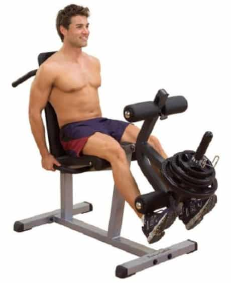 leg extension on a machine example