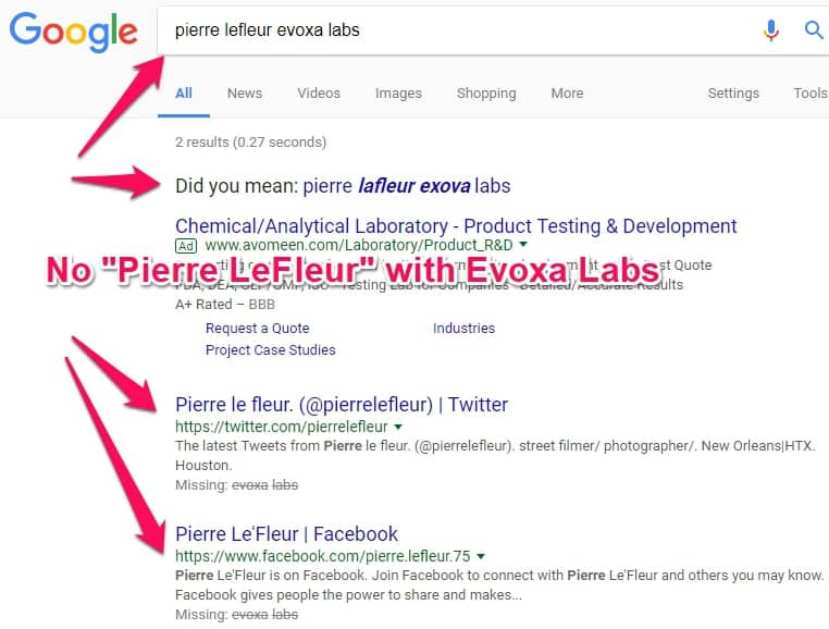 pierre lefleur evoxa labs google search