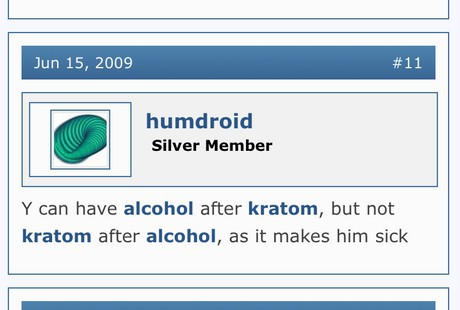 side effects from mixing alcohol and kratom