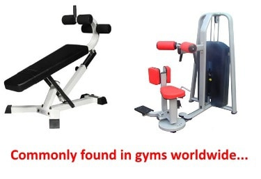 ab machines you'll find in gyms