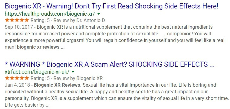 biogenic xr google search result