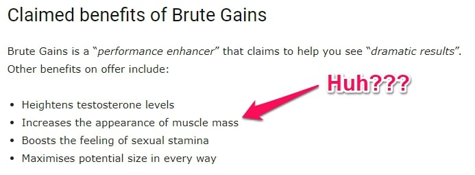 brute gains supplement claims