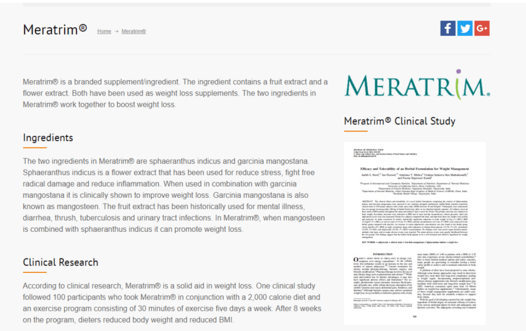 meratrim clinical study