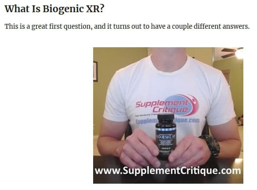 my real review of biogenic xr