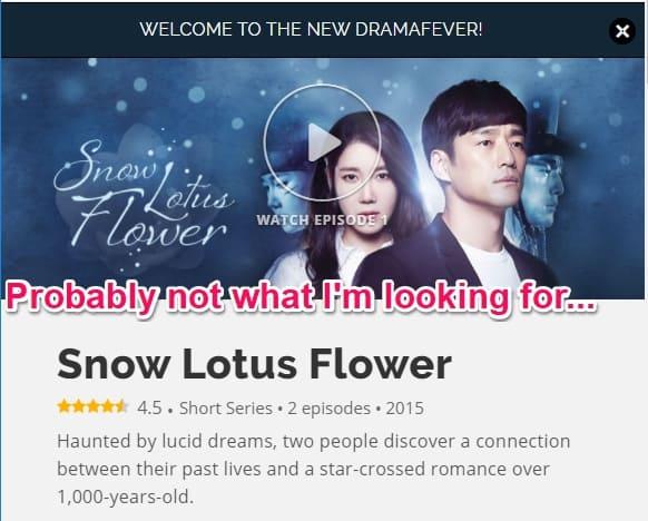 snow lotus flower tv drama in korea
