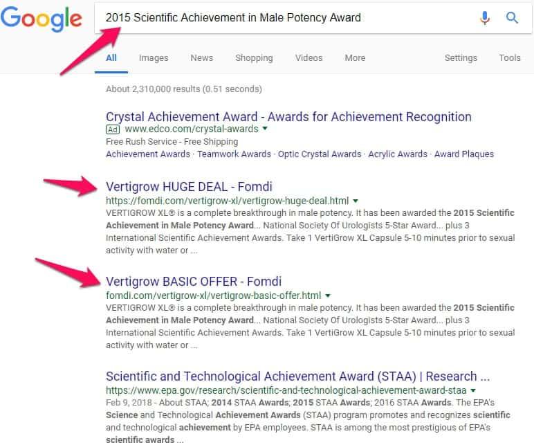 2015 scientific achievement in male potency award