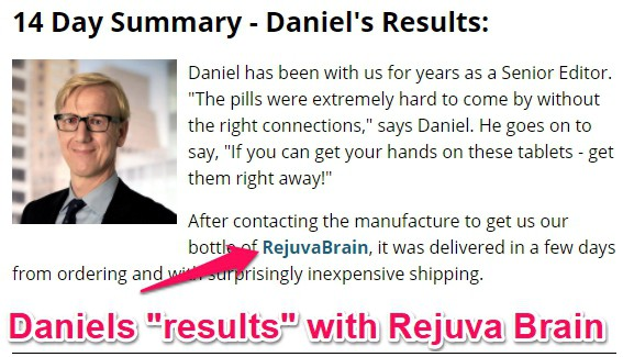 daniels results with rejuva brain