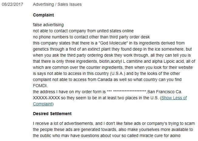 fomdi complaints