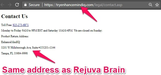 rejuva brain address