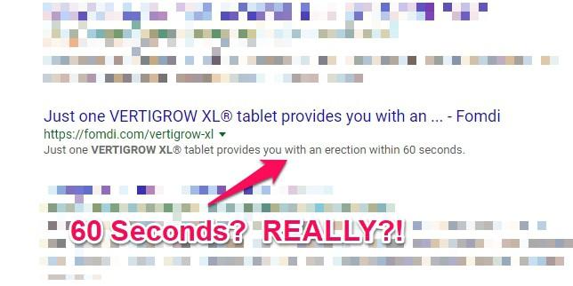vertigrow xl works in 60 seconds