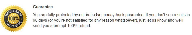 arthrozene money back guarantee