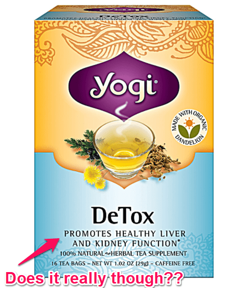 yogi tea for liver and kidney function