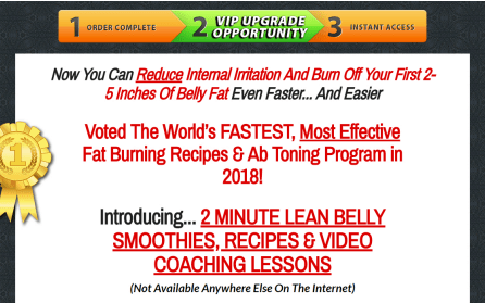 Lean Belly Breakthrough Smoothie upsell