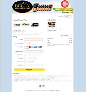 Lean Belly Breakthrough order page