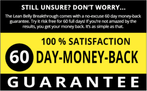 Lean Belly Breakthrough offers a money-back guarantee