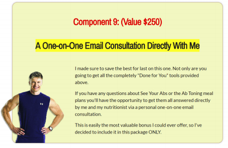 Lean Belly Breakthrough one-on-one email consultation with Bruce