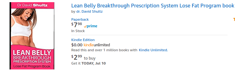 Lean Belly Breakthrough is not sold on Amazon