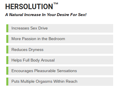 Her Solution promises that it increases a woman's desire for sex