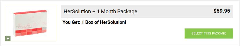 HerSolution sex and libido enhancer for women costs about $60 for a one-month supply