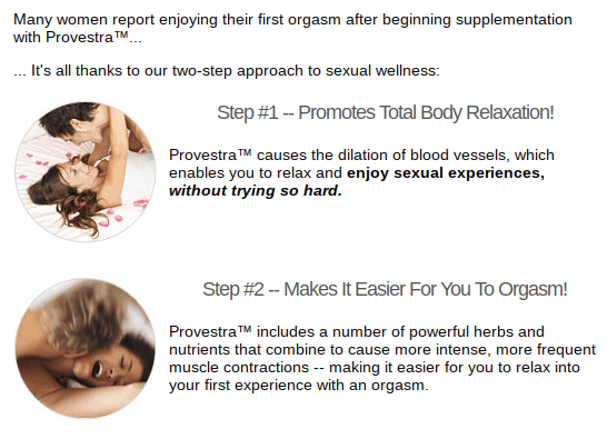 Provestra claims to help women have better orgasms