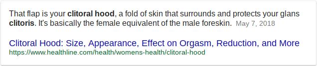 Apply Vigorelle to the clitoral hood