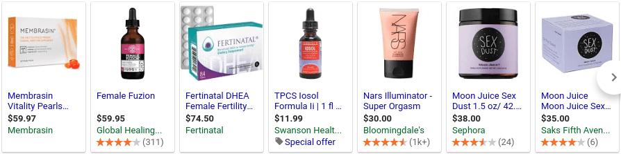Female sex enhancers can get expensive