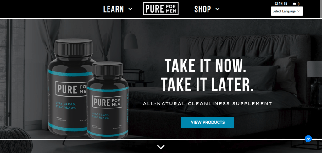 Pure For Men helps men stay clean