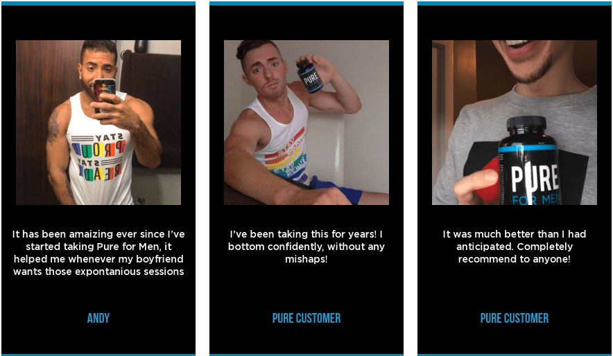 Pure For Men testimonials