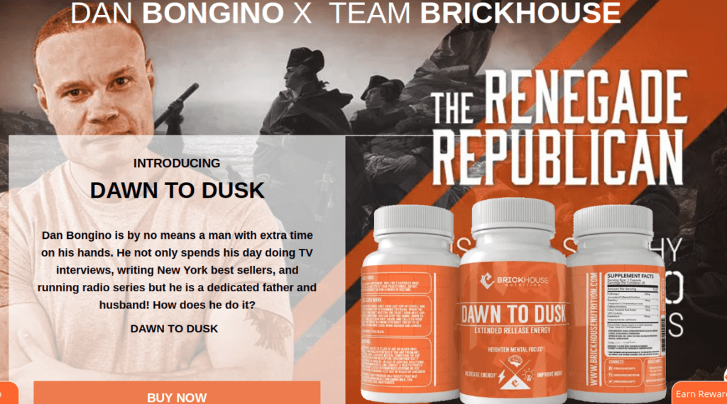 Dan Bongino is sponsored by Brickhouse Nutrition