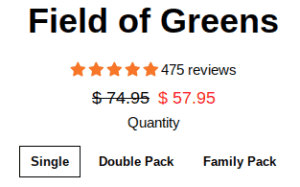 Field of Greens, by Brickhouse Nutrition, is pretty expensive