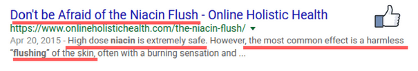 A harmless 'Niacin flush' may occur while taking HerSolution