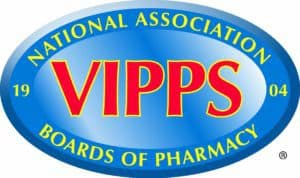 The rogue pharmacy called Pharmacy RX One does not have the VIPPS logo