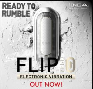 Ad for Tenga Flip Zero male sex toy masturbator