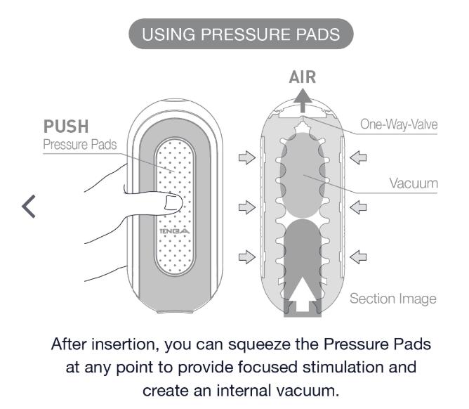 The Tenga Flip Zero features a unique suction mechanism